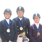 les 3 médaillers SMALL DRESSAGE
